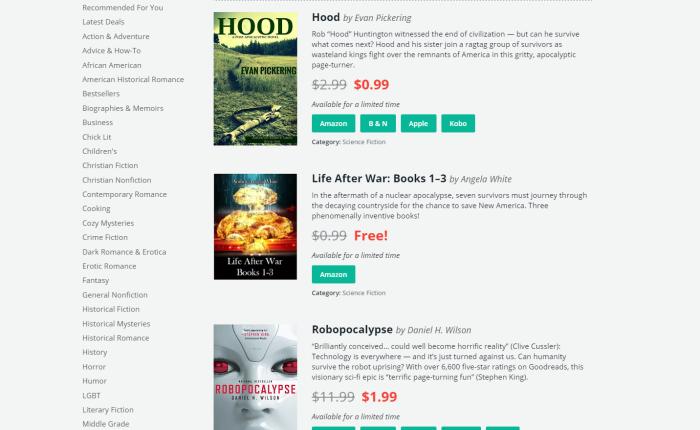 BookBub — Day 1Results!